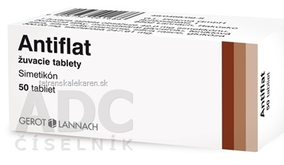 Antiflat žuvacie tablety tbl mnd 42 mg  (blis.PVC/Al) 1x50 ks