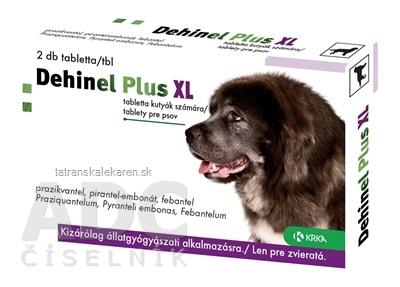 DEHINEL PLUS XL tablety pre psov 1x2 ks