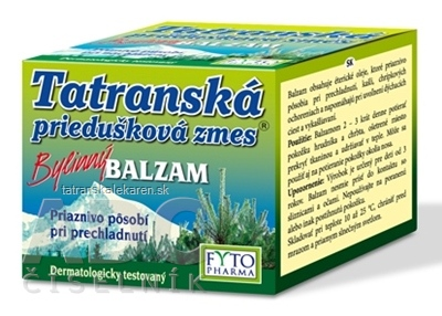 FYTO Tatranská priedušková zmes Bylinný BALZAM 1x40 g