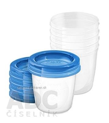AVENT nové VIA poháriky 180 ml x 5 ks, s vrchnákmi, 1x1 set