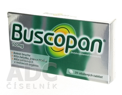 Buscopan tbl obd 10 mg (blis.Al/PVC) 1x20 ks