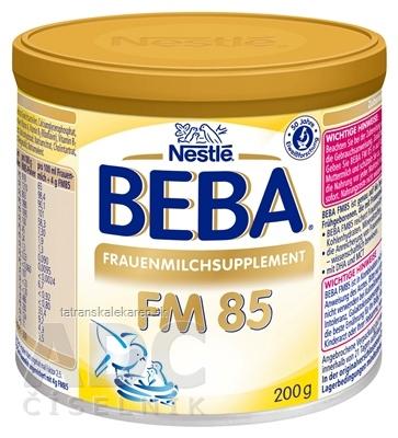 BEBA FM 85 plv (na obohacovanie mater. mlieka, 0m+) (inov.2017) 1x200 g