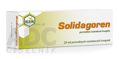 Solidagoren perorálne roztokové kvapky gto por (fľ.skl.hnedá) 1x20 ml