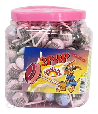 2POP Lízanka s hroznovým cukrom Swetn Fun, v plast.doze, 125 ks x 10 g (1250 g)