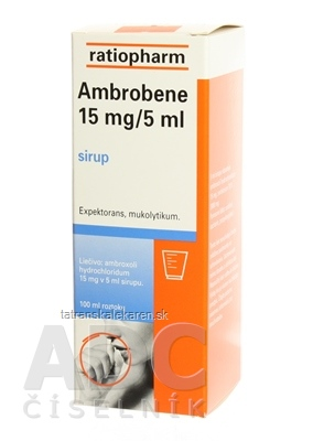 AMBROBENE 15 mg/5 ml sir 1x100 ml/300 mg