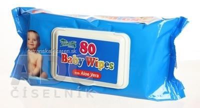 HYGIENICKÉ UTIERKY BABY WIPES S ALOE vlhčené obrúsky 1x80 ks