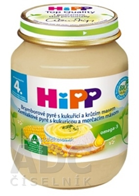 HiPP Príkrm Zemiaky s kukuricou a morčacím mäsom Baby menu (od ukonč. 4. mesiaca) 1x125 g
