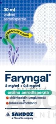 Faryngal 2 mg/ml + 0,5 mg/ml orálna aerodisperzia aer ora (fľ.skl.s pumpičkou) 1x30 ml