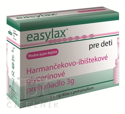 Easylax - Harmančekovo glycerínové preháňadlo vhodné aj pre dojčatá 2x3 g
