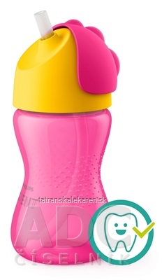 AVENT HRNČEK so slamkou 300 ml (0% BPA) od 12 mesiacov, dievča, 1x1 ks