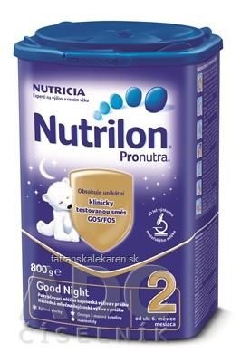 Nutrilon 2 Pronutra Good Night mliečna výživa v prášku na dobrú noc (od ukonč. 6. mesiaca) 1x800 g