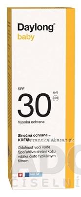 Daylong baby SPF 30 krém (opaľovací krém pre deti od narodenia) 1x50 ml