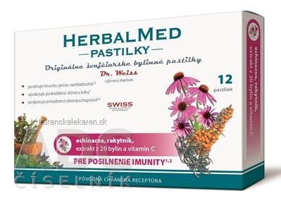HERBALMED PASTILKY pre posilnenie imunity - Dr.W. (echinacea, rakytník, 20 bylín, vit.C) pastilky 1x12 ks