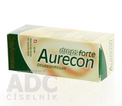 Fytofontana Aurecon drops forte ušné kvapky 1x10 ml s obsahom rastlinných extraktov