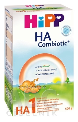 HiPP HA 1 Combiotic počiatočná mliečna výživa (od narodenia) 1x500 g