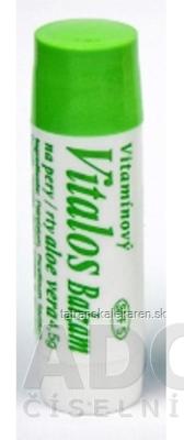 VITALOS Balzam na pery aloe vera SPF 5 vitamínový 1x1 ks