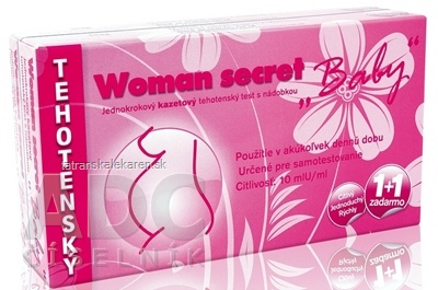 Woman secret BABY tehotenský test kazetový (1+1 zadarmo) 1x2 ks