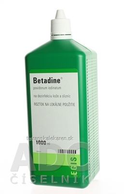 Betadine dezinfekčný roztok 100 mg/ml sol der (fľ.plast.) 1x1000 ml