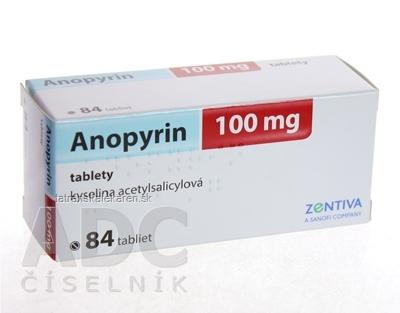 Anopyrin 100 mg tbl (blis.) 1x84 ks