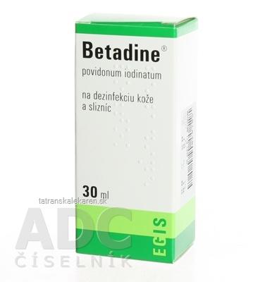 Betadine dezinfekčný roztok 100 mg/ml sol der (fľ.plast.) 1x30 ml