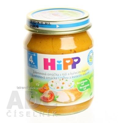HiPP Príkrm Zelen.omáčka s ryžou a kuracím mäsom Baby menu (od ukonč. 4. mesiaca) 1x125 g