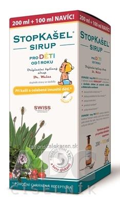 STOPKAŠEĽ SIRUP pre deti - Dr.Weiss 200+100 ml navyše (300 ml)